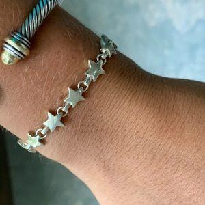 Vintage Tiffany Chain of Stars Bracelet